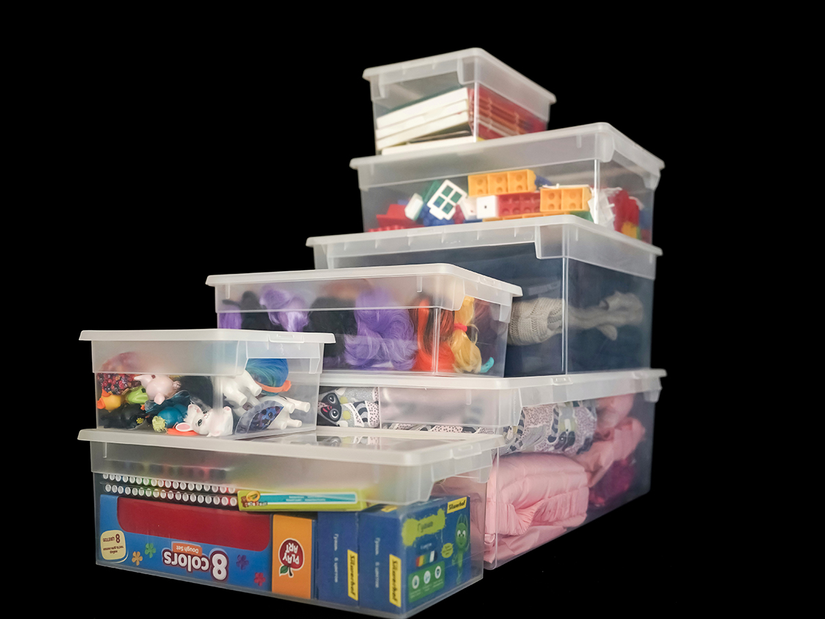 Прозрачный пластиковый контейнер L, 23 л