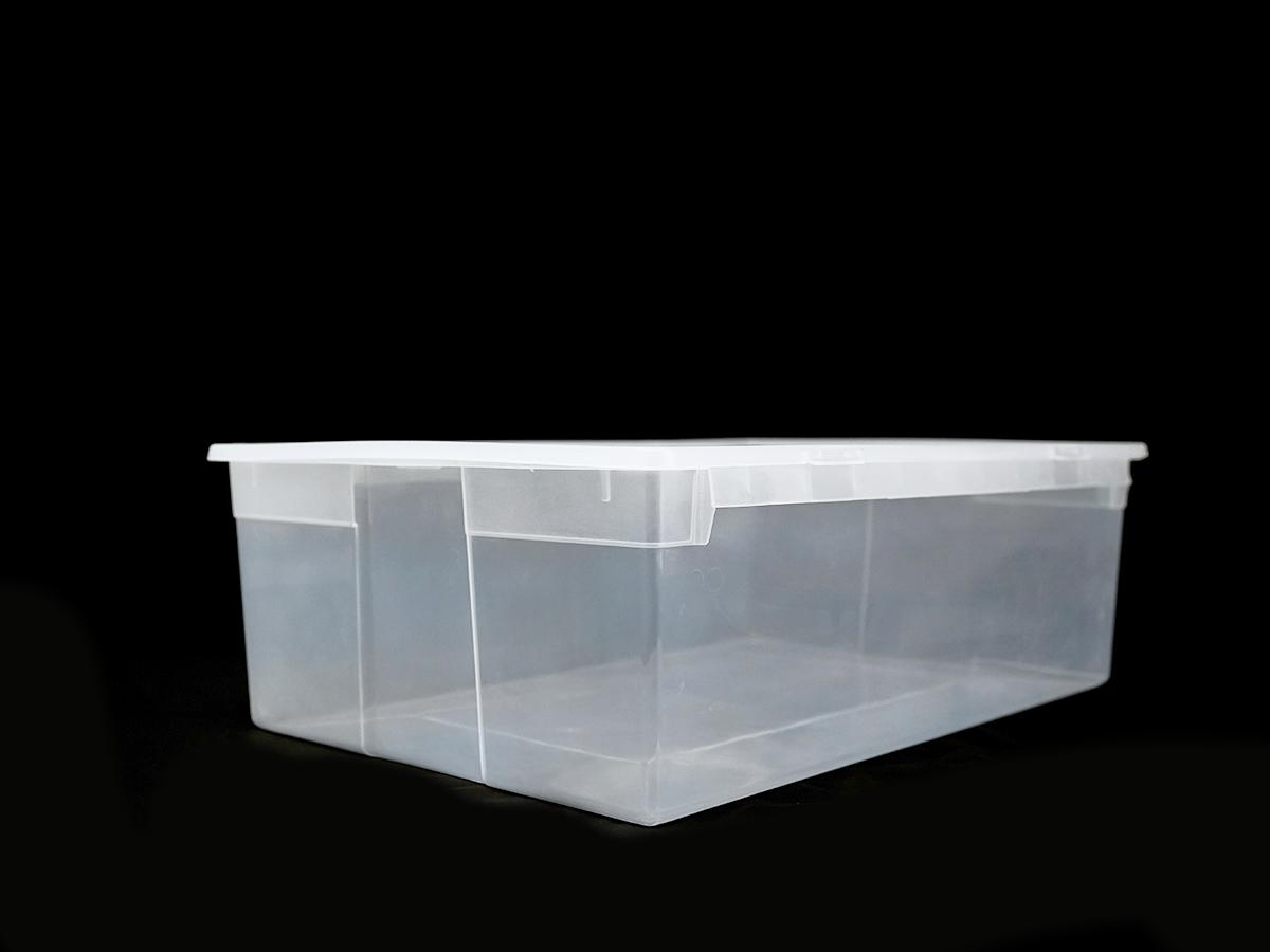Прозрачный пластиковый контейнер XL, 36 л