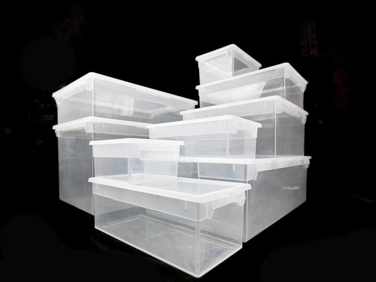 Прозрачный пластиковый контейнер 52XXL, 50 л