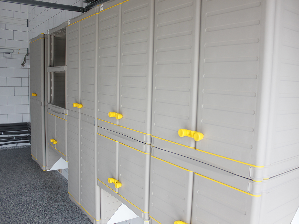 Малый шкаф с этажеркой из 3 полок