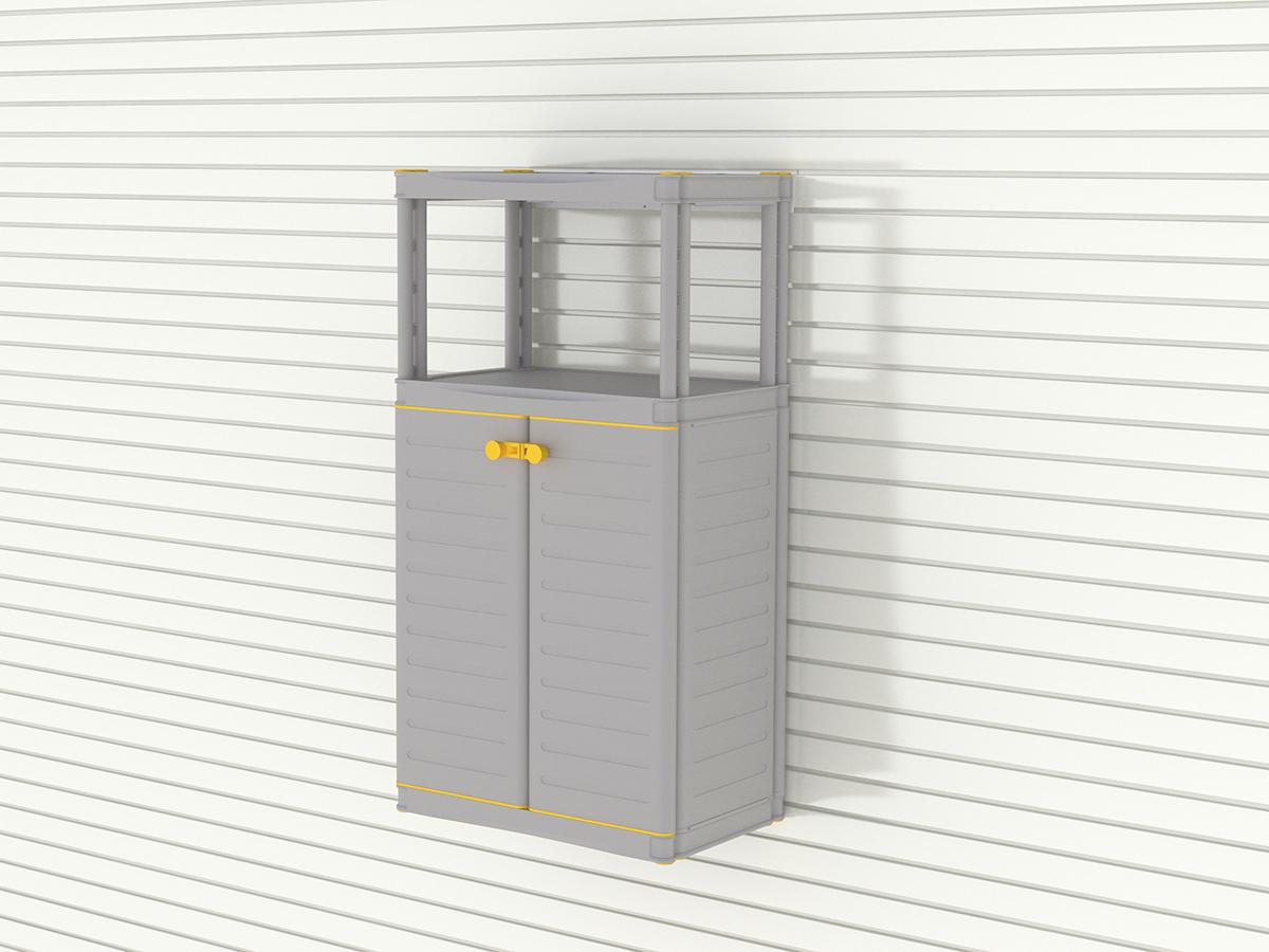 Средний шкаф с этажеркой из 2 полок