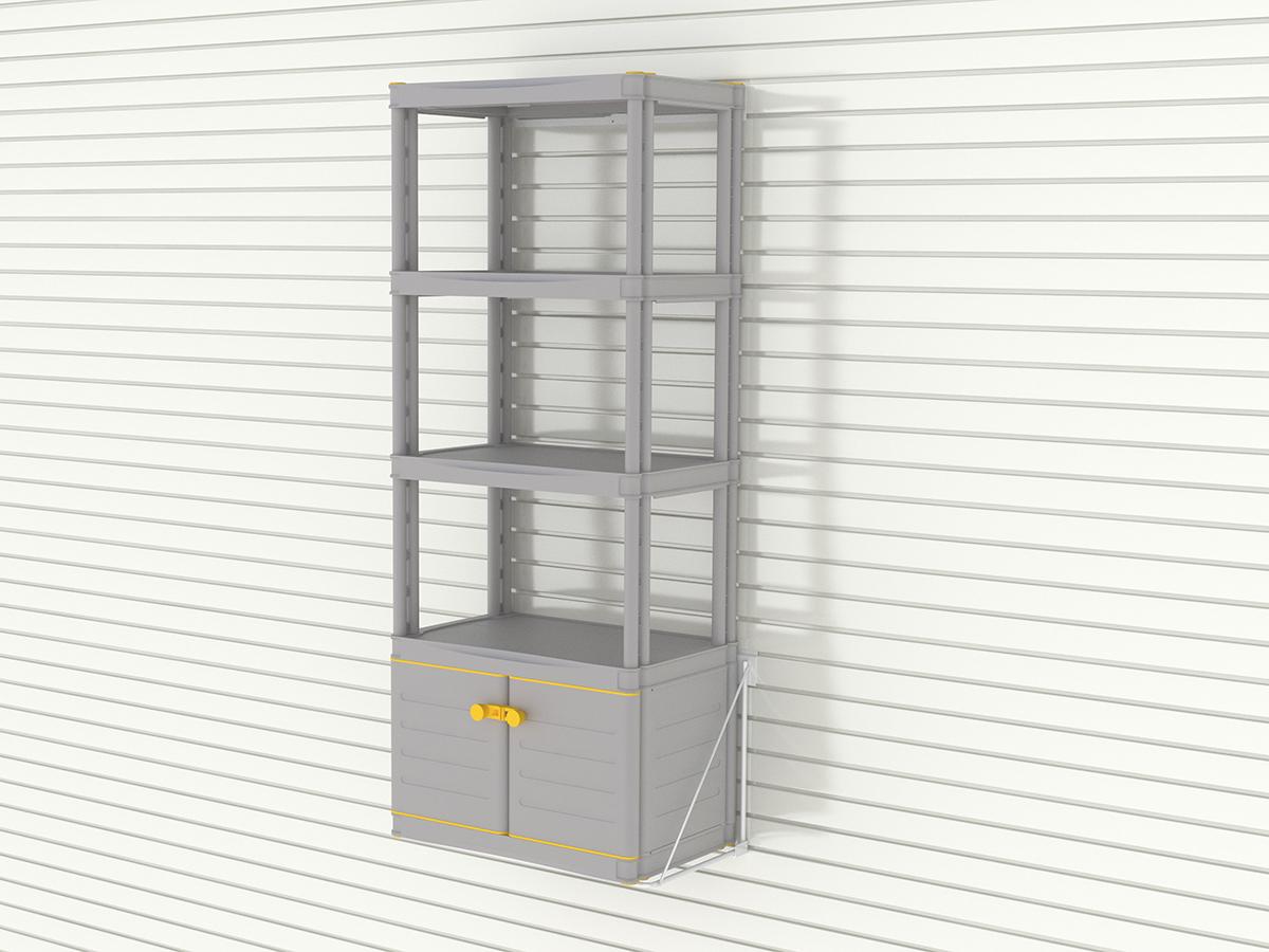 Малый шкаф с этажеркой из 4 полок