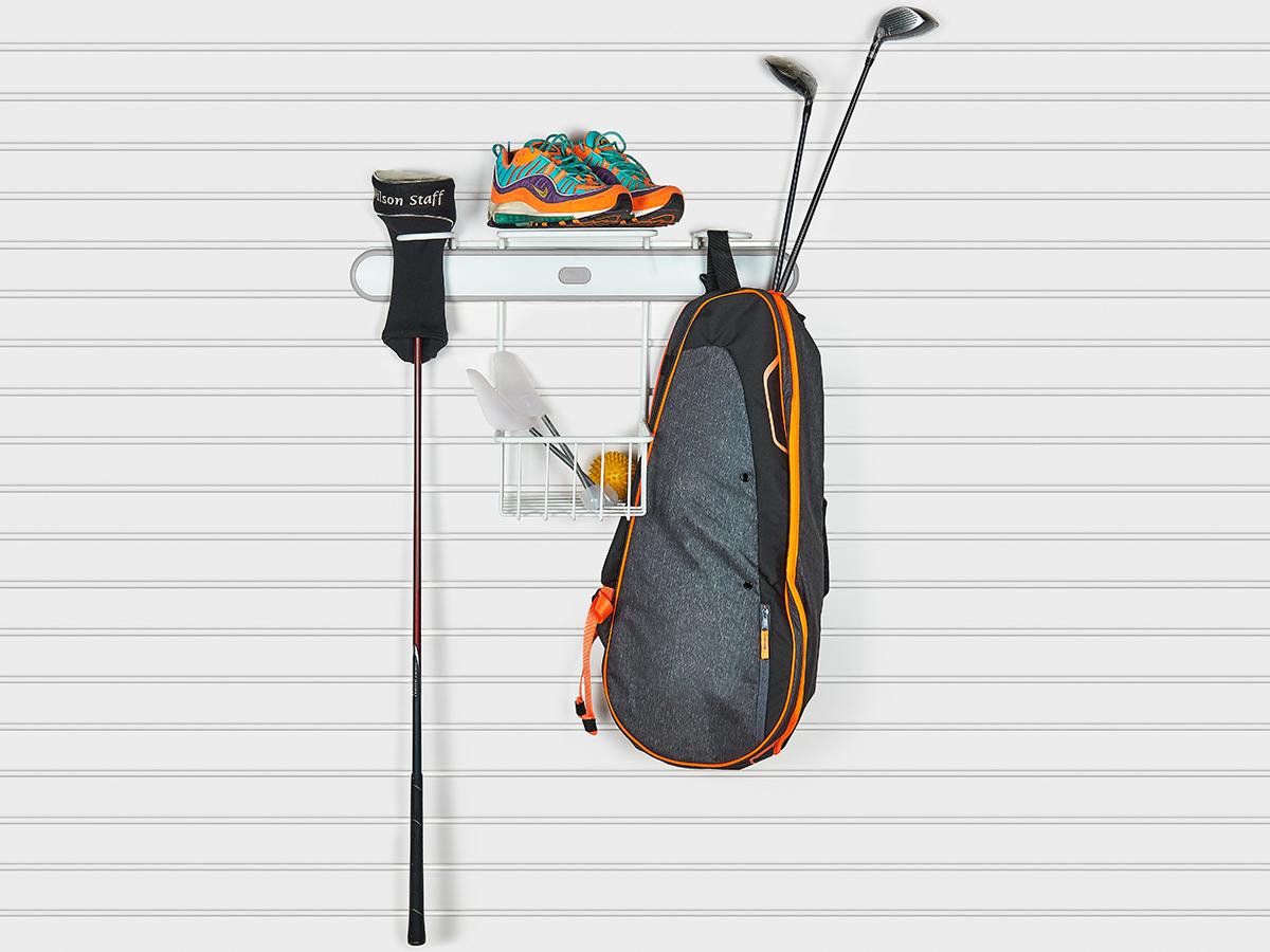 Держатель сумок для гольфа серый