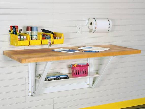 Подвесной стол со столешницей из массива дуба 150 см
