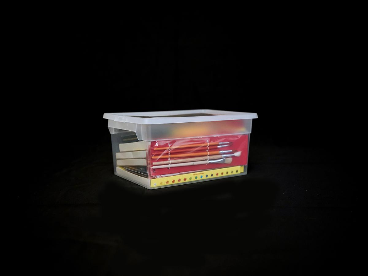Прозрачный пластиковый контейнер M2, 6 л