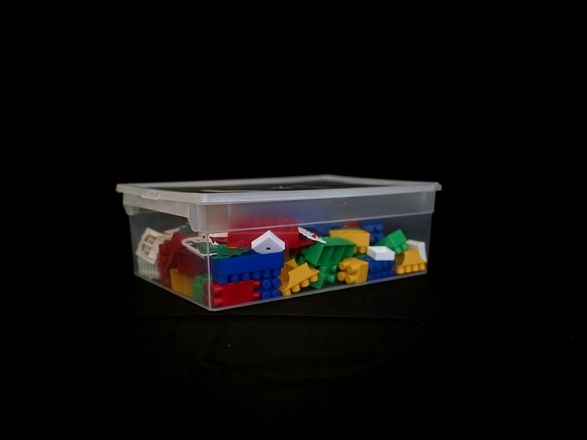 Прозрачный пластиковый контейнер M, 12 л