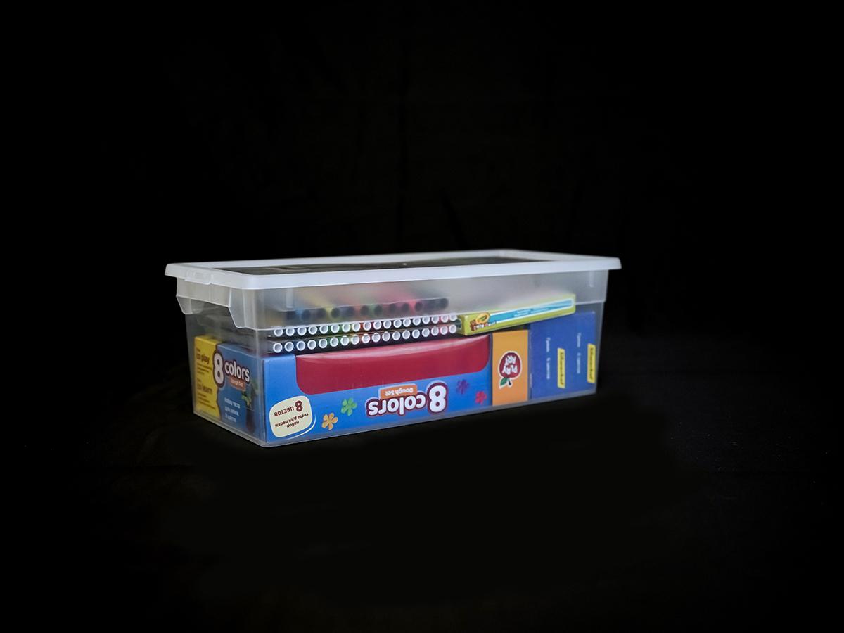 Прозрачный пластиковый контейнер S, 7 л
