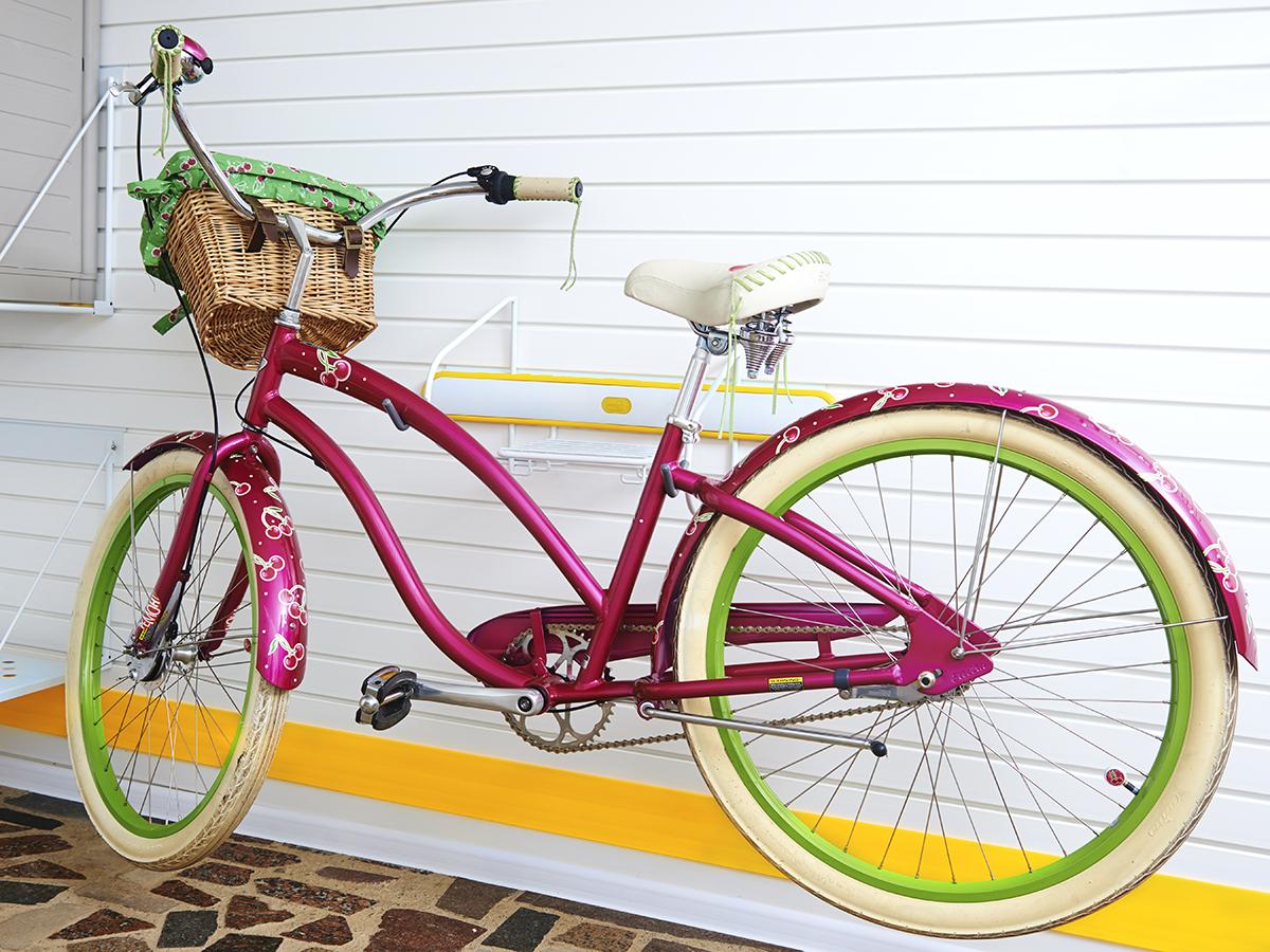 Подвес для велосипеда горизонтальный жёлтый