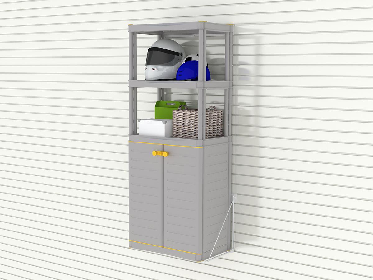 Средний шкаф с этажеркой из 3 полок