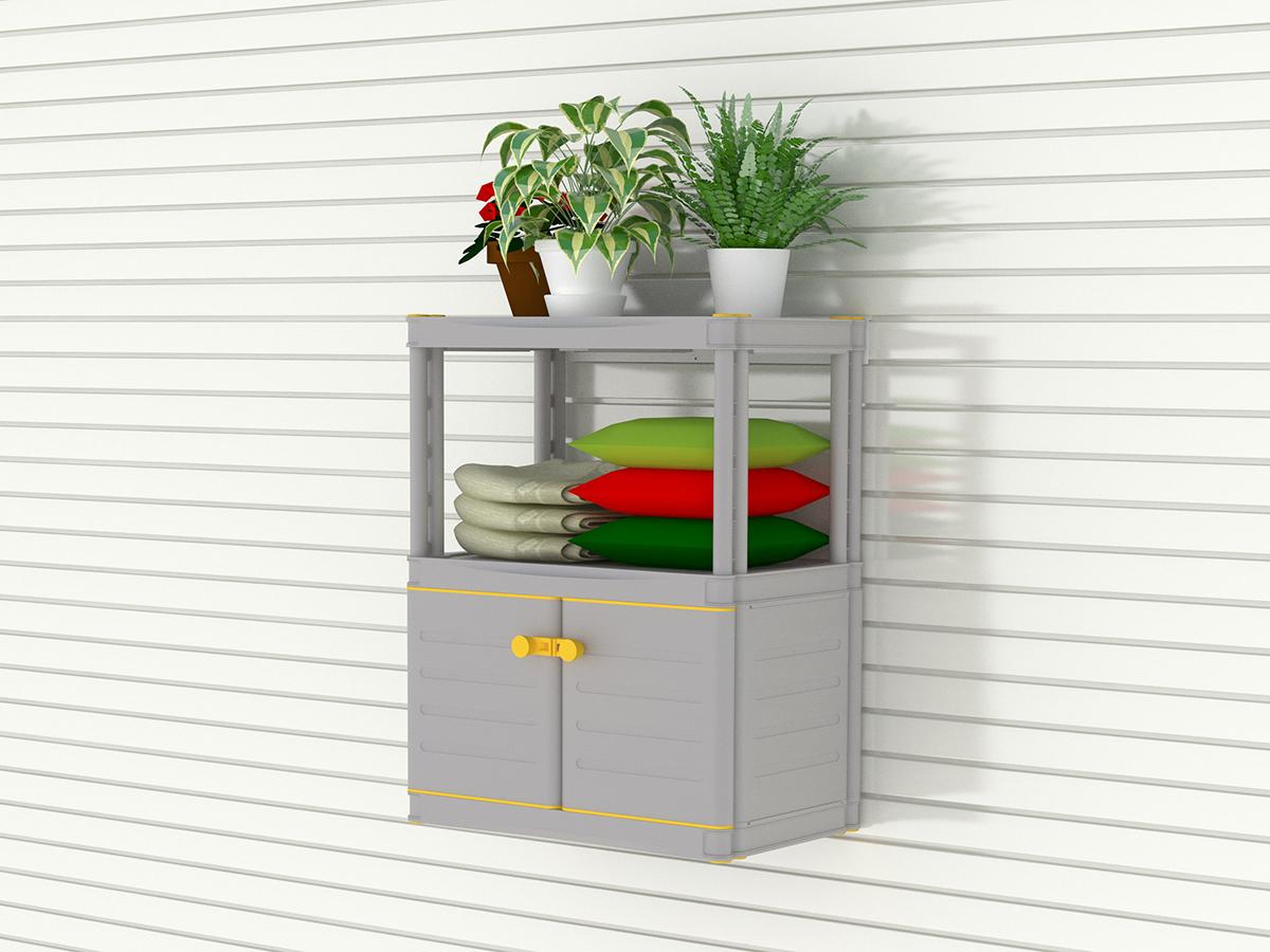Малый шкаф с этажеркой из 2 полок