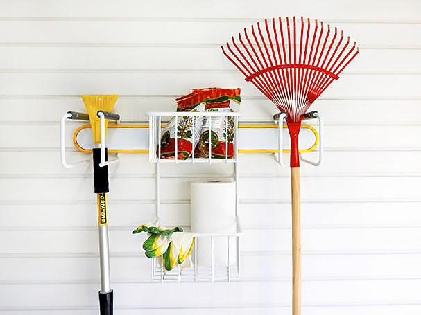 Держатель садового инструмента большой жёлтый