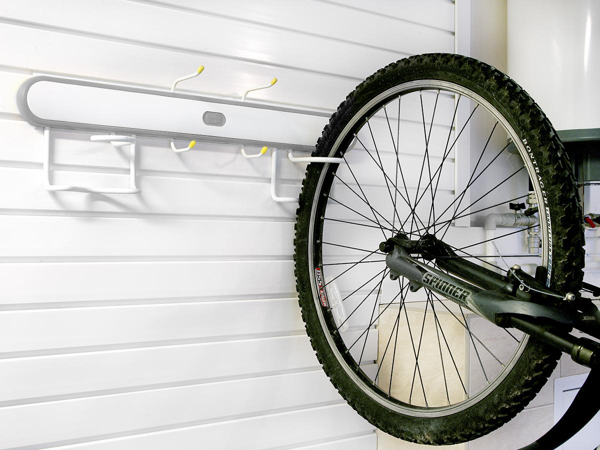 Подвес для велосипеда вертикальный серый