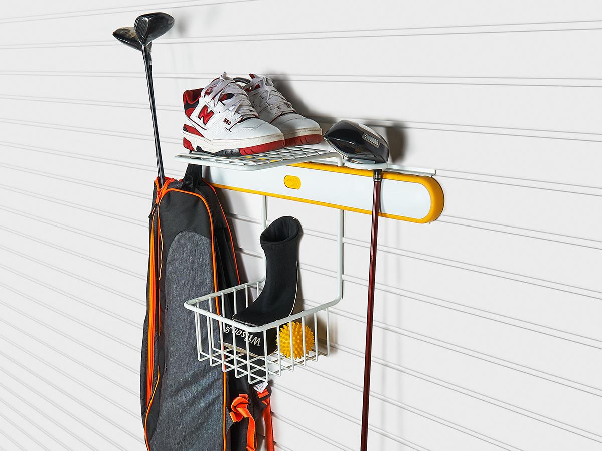 Держатель сумок для гольфа жёлтый