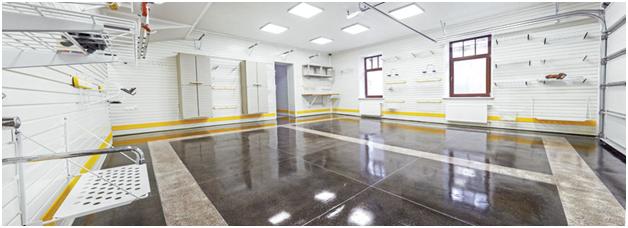 Оснащенный системой хранения гараж после ремонта от ГаражТек