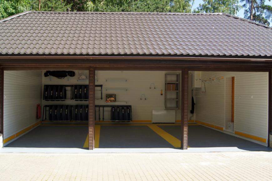 пристроить каркасный гараж к дому