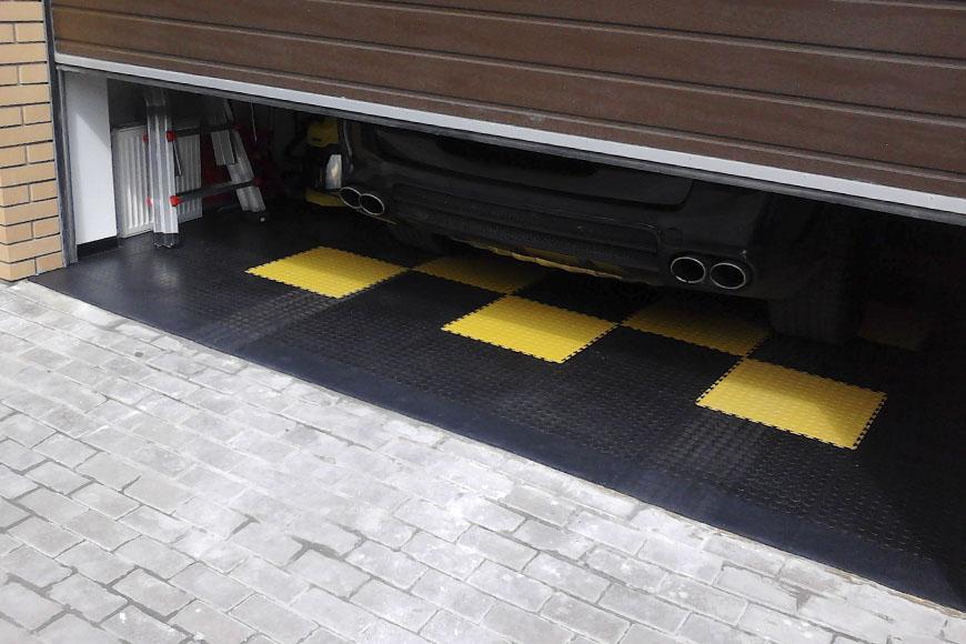 плитка для гаража из пвх