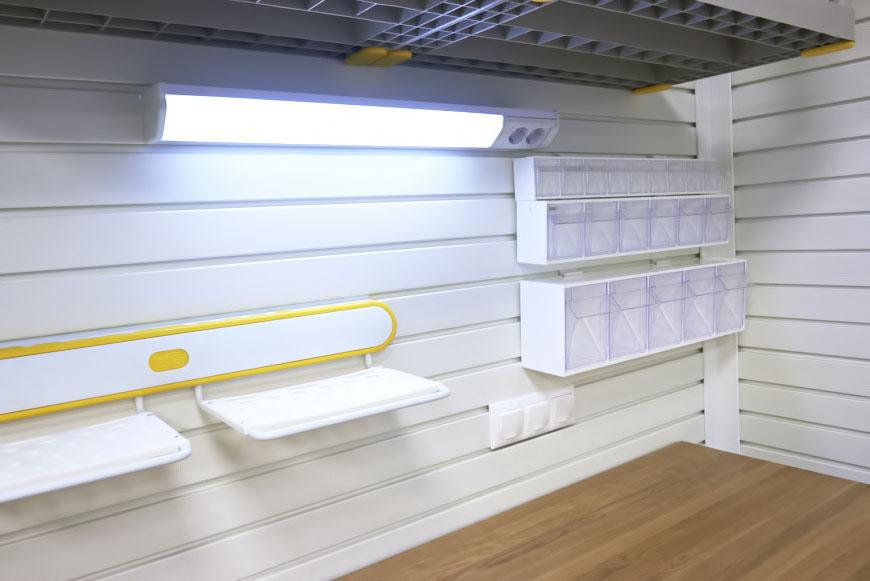 Лампы освещения для гаража купить в деревянные полки в гараж купить