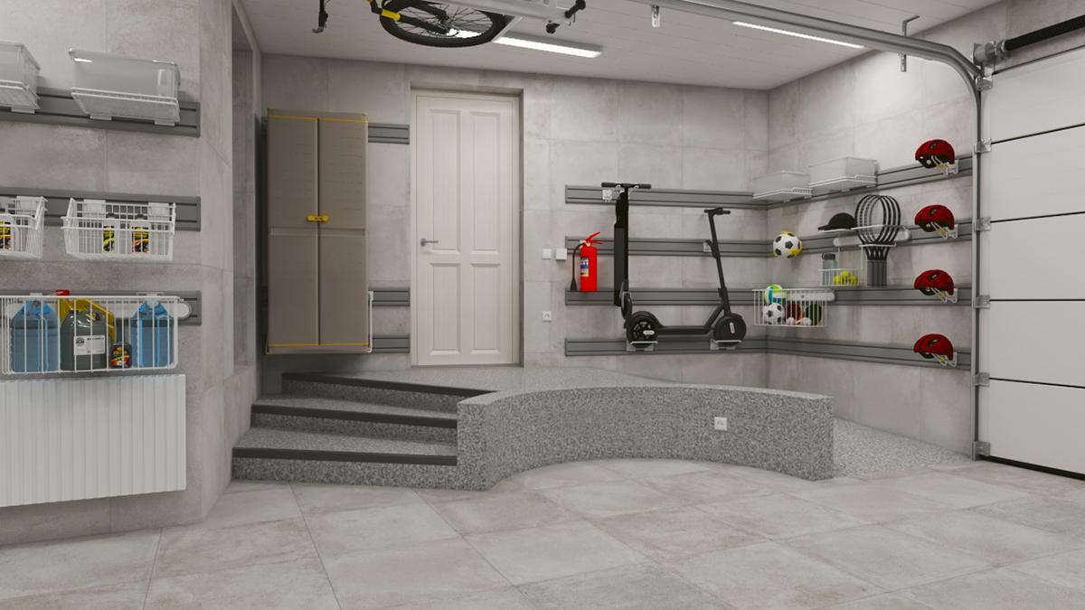 Дизайн-проект – Обустройство большого гаража системой хранения на направляющих TekTrak