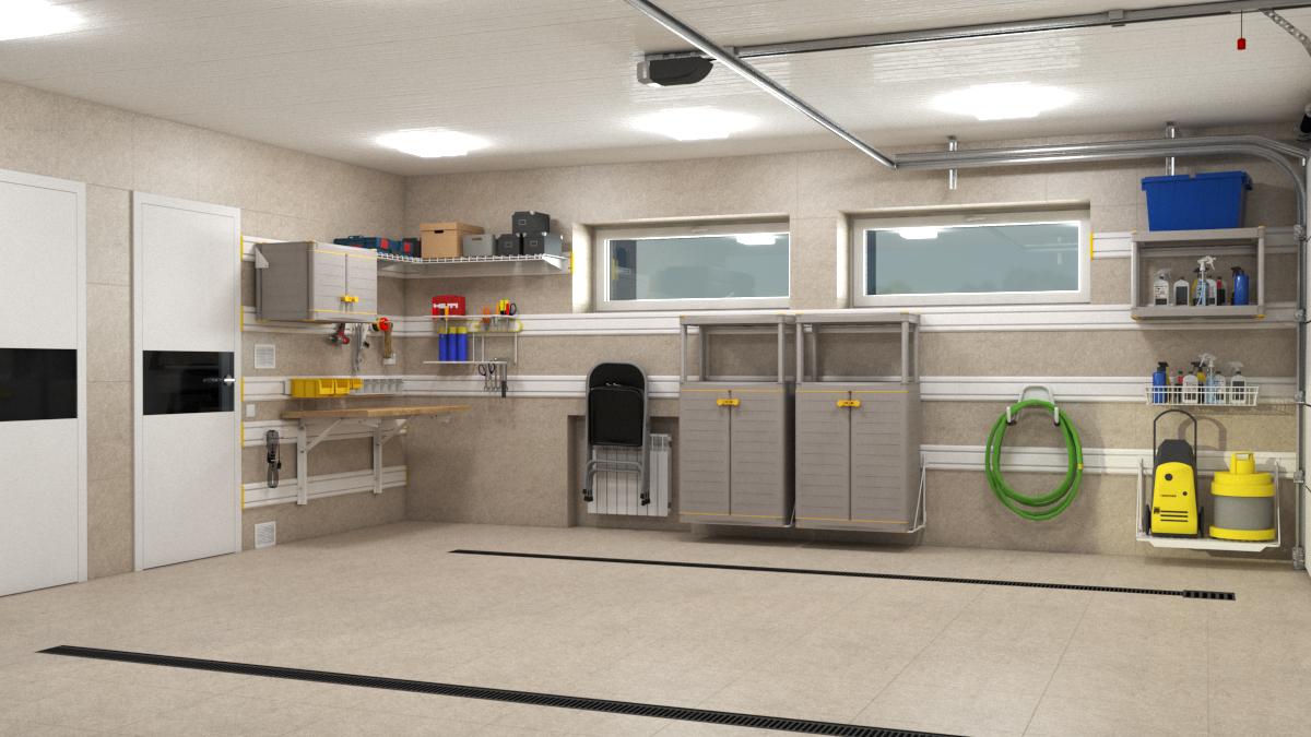 Дизайн-проект – Хранение на TekTrak для гаража 40 кв. м в КП Новорижский