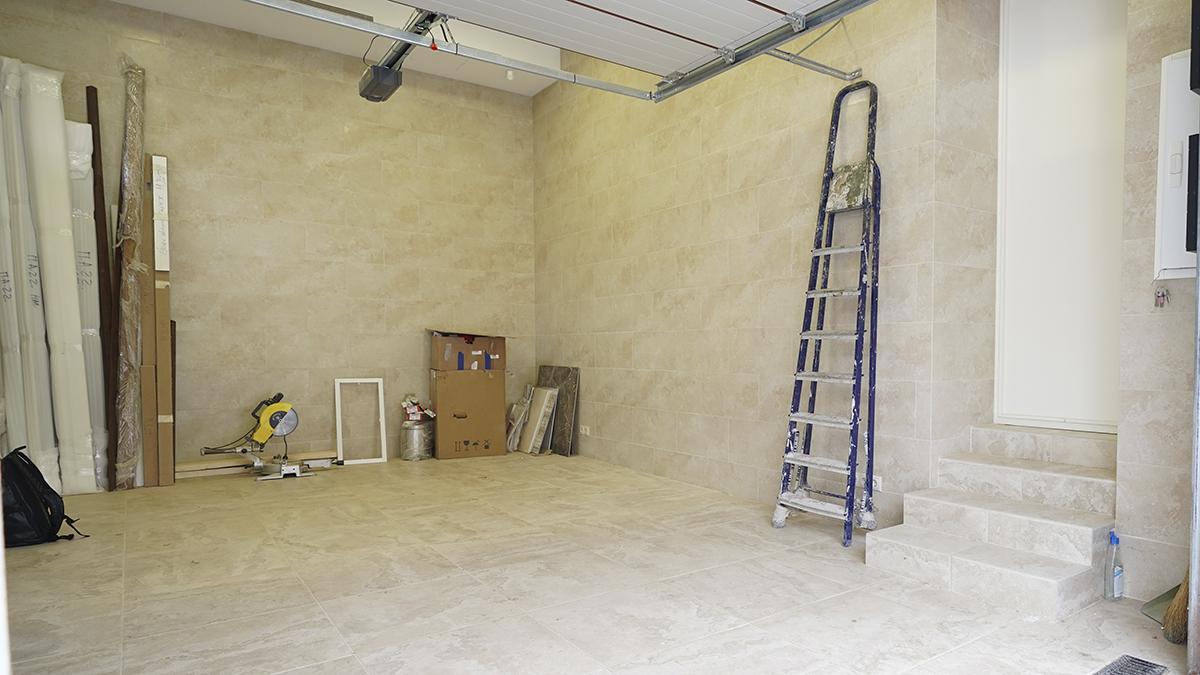 До обустройства – Обустройство гаража 24 кв. м с отделкой из керамогранита