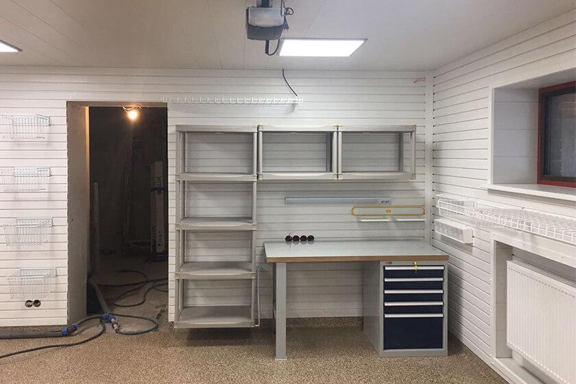 Обустройство гаража, которого нет. Реализация проекта под ключ с нуля