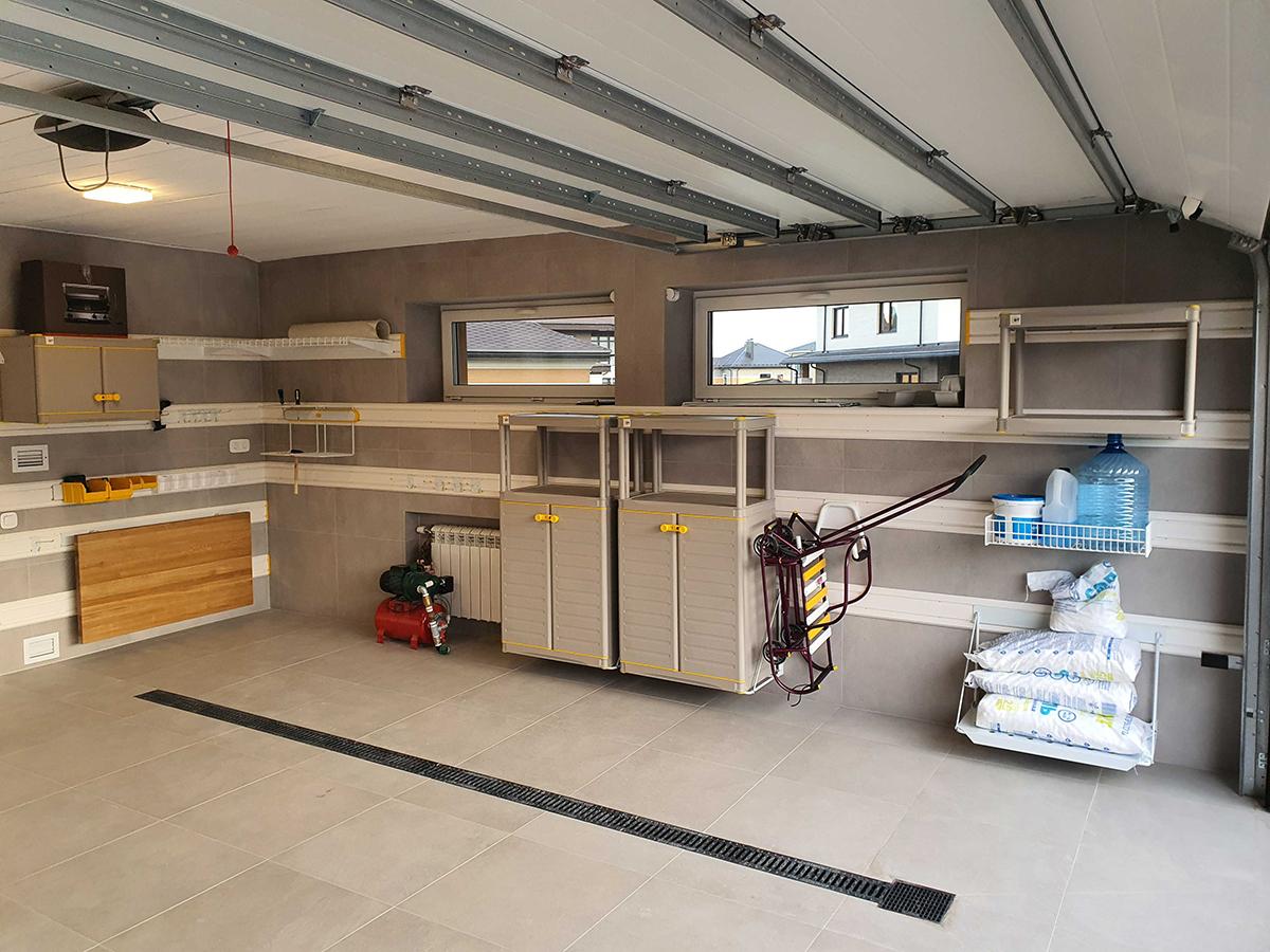 После обустройства – Хранение на TekTrak для гаража 40 кв. м в КП Новорижский